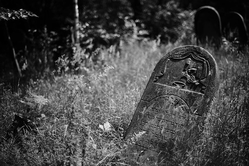 Tombstone in Jewish cemetery