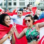 Fans de foot - Lausanne - Coupe du Monde 2014 - Match Suisse - Equateur thumbnail