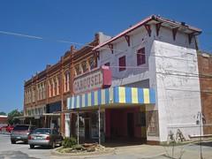Carousel Theater (pocket litter) Tags: oklahoma theater carousel sulphur