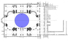 Plan with Dome in Blue