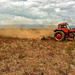 A Soviet tractor on a small farm in Ethiopia