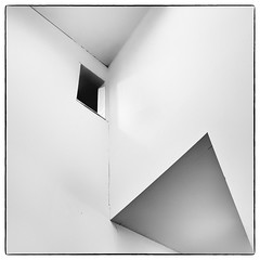 in-building#1 (Masahiko Kuroki (a.k.a miyabean)) Tags: bw architecture square noiretblanc 室内 清里現代美術館 fujixe1 fujifilmsuperebcxf2841855mm