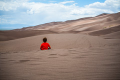 A young alchemist (NiH) Tags: nationalpark sand colorado dunes rockymountainnationalpark contemplation alchemist paulocohelo nationalparkusa thegreatsanddunesnationalpark