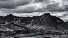 Highlands of Iceland - Uxatindar - the peaks (Arnar Bergur) Tags: bw mountain clouds blackwhite iceland highlands lakaggar sveinstindur arnarbergur