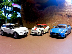 The British Are Here. (Man of Yorkshire) Tags: cars car model stripes models mini rover oxford jaguar range coupe diecast 176 oogauge xkrs