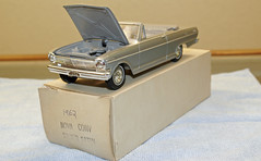 1962 Chev II Nova Convertible Promo Model Car - Silver Satin (coconv) Tags: pictures auto old history classic cars chevrolet scale nova car sport vintage silver toy miniature photo promo model automobile image photos antique ss picture convertible super images plastic 124 vehicles photographs photograph ii sample vehicle historical kit autos collectible collectors satin promotional coupe 1962 automobiles dealership 62 johan dealer mpc 125 amt chev smp hubley revell 125th banthrico
