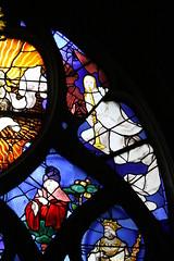 F - Beauvais - Saint Etienne - vitrail (Wilfried Praet) Tags: shawm schalmei chalmie