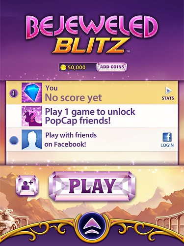 Bejeweled Blitz Main Menu: screenshots, UI
