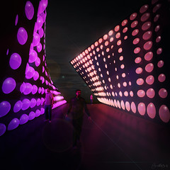 Neon diodes (Jarand Midtgaard) Tags: fiction art architecture illustration landscape render digitalart cinema4d visualization utopia rendering cinema4dr15