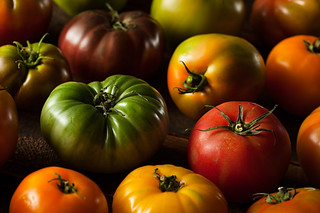 Colorful Organic Heirloom Tomatoes