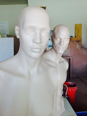 Sunday's Work: More Bondo and Priming (DollAddict) Tags: mannequin window michael mannequins monica hugo nomads rootstein