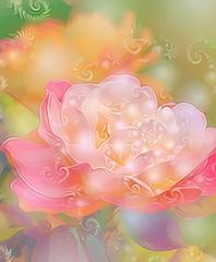 Sparkling Rose (GeminEye27) Tags: flower color rose fractal topazclean kreativepeople treatthis