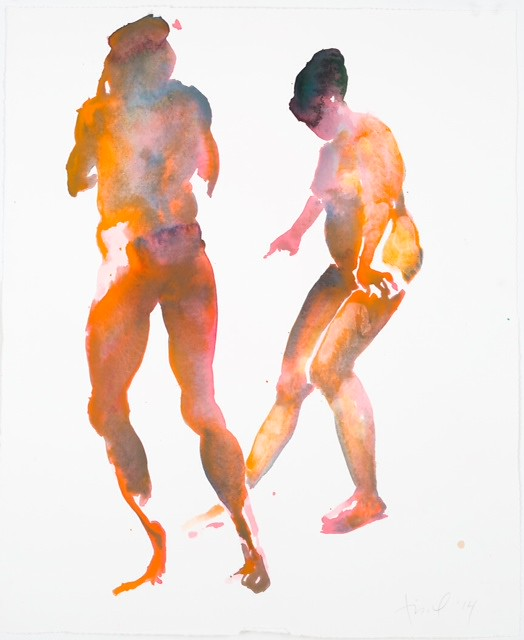Eric Fischl Watercolors Dustin Yellin  amp Eric Fischl