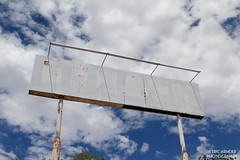 Forgotten Station (Eric Arnold Photography) Tags: arizona cloud abandoned sign clouds route66 cloudy az 66 pole faded texaco seligman motherroad