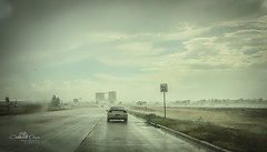 Downpour (Chains of Pace- Road Trip to LA) Tags: road storm oklahoma rain rural sony perspective depthoffield panhandle guymon