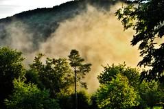 ~~Brume couleur sunset !~~ (Jolisa) Tags: light mist fog lumire hill soir mont brouillard orage brume coucherdesoleil aot2014