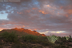 Golden Sliver (Eric Binns Photography) Tags: sunset arizona mountain southwest clouds landscape desert sonorandesert ocotillo tontonationalforest pocketwizard passmountain strobist offcameralighting
