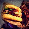 Ramen Burger at Smorgasburg, Brooklyn Flea Food Markey - Brooklyn Bridge Park, NYC (ChrisGoldNY) Tags: city nyc newyorkcity travel urban food newyork brooklyn poster lunch foods forsale meals brooklynheights viajes foodporn burgers trendy posters albumcover noodles gothamist bookcover dishes sandwiches streetfood bookcovers bk albumcovers eater consumerist licensing iphone brooklynbridgepark ramenburger instagram chrisgoldny chrisgoldberg smorgasburg chrisgold chrisgoldphoto chrisgoldphotos
