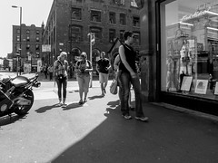 P7253520-1 (Lawrence Holmes.) Tags: streetphotography street photographer camera stevensonsq mono blackandwhite northernquarter nq manchester uk olympusc7070 lawrenceholmes