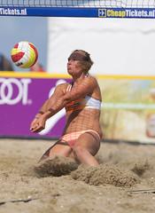 P8151397 (roel.ubels) Tags: beach sport scheveningen denhaag beachvolleyball volleyball thehague volleybal nk 2014 beachvolleybal nevobo