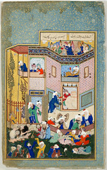 Allegory of Worldly and Otherworldly Drunkenness برگی از دیوان حافظ