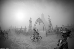 20140829-BRC_2014-135 (level twenty three) Tags: blue blackandwhite bw art portraits fire desert nevada playa burningman blackrockcity brc blackrock burningman2014 burningmanbw