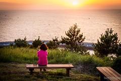 Wishing and waiting at sunset, Jeju Island (eric_hevesy) Tags: trees sunset people cloud sun canon landscape photo interesting colorful korea telephoto southkorea jeju wishing hopeful 6d jejuisland