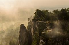 Felsenburg Neurathen im Nebel (Schwubb) Tags: mist holiday mountains fog sunrise germany deutschland nikon rocks nebel urlaub berge sachsen sonnenaufgang bastei felsen schsischeschweiz elbsandsteingebirge earlymorningfog frhnebel suissesaxonne d7000 felsenburgneurathen