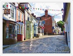 Lymington, Dorset (D.T.Morris) Tags: street david dorset shops morris cobbles lymington dtmphotography