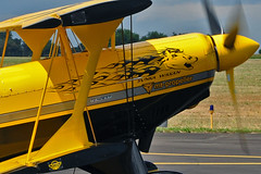 Sunka Wakan nose art (skyhawkpc) Tags: 1982 nikon airshow co allrightsreserved 3004 aerobatic aerobatics 2014 greeley gxy sunkawakan rockymountainairshow buckroetman greeleyweldcountyairport pittss2sspecial n99mf kgxy garyverver