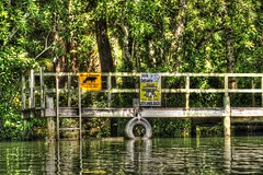 Dockside Delivery (jim324w) Tags: nature water photoshop river pier photo dock nikon kayak outdoor alabama picture pic hdr baldwincounty magnoliasprings magnoliariver