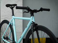 F550 Custom : Naj La (Factory Five) Tags: china blue black bike bicycle track factory shanghai dish 5 five deep gear fixed fixie custom celeste f550
