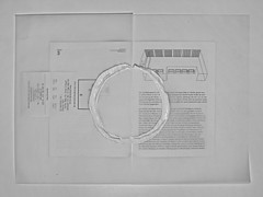 """""""an apple a day keeps the doctor away - An ENSO (Japanese: circle) a Day ..."""" 15. September 2014: Booklet: Exhibition; Josef Dabernig """"Rock the Void"""" (MuMoK, MQ). White Circle on White Transparent Paper on White Booklet and White Bill on White Background"""