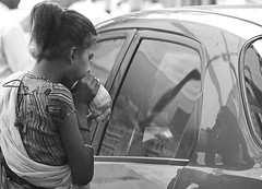 Life in Calcutta (johey24) Tags: street blackandwhite bw india reflections raw candid