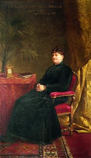 Enrico Crespi, Ritratto di Faustina Foglieni vedova Brocca1893, Milano, Azienda di Servizi alla Persona Golgi-Redaelli