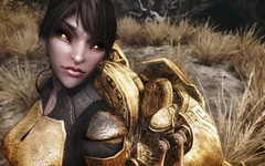 Cold eyes of liquid gold I (Tumblefly) Tags: shot screen gaming elder scrolls dunmer skyrim