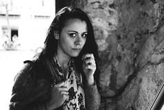 la cuba entrance portrait (gorbot.) Tags: portrait blackandwhite bw italy tourist sicily palermo roberta sicilia sights lightroom rangefindercamera mmount lacuba leicam8 voigtlander28mmultronf19 vscofilm