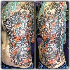 Day 2...6 hours #pooch_art #poochisland #poochride #tattoo #funfactory @neotatmachines @fusionink_ca #alteredstatetattoo #eldubink