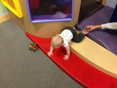 "Crawling at the DuPage Children's Museum • <a style=""font-size:0.8em;"" href=""http://www.flickr.com/photos/109120354@N07/15292244146/"" target=""_blank"">View on Flickr</a>"