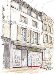 Niort, Librairie des Halles (Croctoo) Tags: croctoo croquis croctoofr poitou poitoucharentes librairie ville boutique