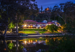 All quiet on the River (Scottmh) Tags: australia nikon victoria arcanum boathouse boats bush d7100 dusk exposure lights long melbourne night park reflection river shutter slow smooth star studley trees water yarra outdoor