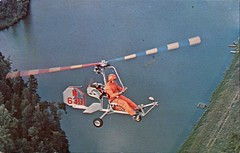 Bensen Gyrocopter, Kits Available From Bensen Aircraft Corp., Raleigh, NC (SwellMap) Tags: postcard vintage retro pc chrome 50s 60s sixties fifties roadside midcentury populuxe atomicage nostalgia americana advertising coldwar suburbia consumer babyboomer kitsch spaceage design style googie architecture airplane jet airliner airport