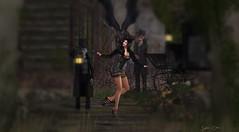 644  Fractured (Sannita_Cortes) Tags: secondlife sl styles virtualworld virtualfashion fashion female dela ikon wowskins wow vengefulthreads twe12ve evilbunnyproductions enchanted dress stockings heels necklace nailpolish