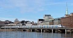 Stockholm city (bokage) Tags: sweden stockholm bokage transport architecture train traffic bridge