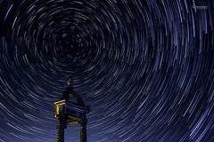 Star trails - Circumpolaire Gergovie V2 (cleostan) Tags: circumpolaire gergovie star trails stars etoile nuit night plateau auvergne puydedome cleostan france startrails