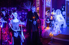 365-333 (• estatik •) Tags: 365333 365 333 october122016 oct 101216 wed weds wednesday night long exposure prime lens 18 panorama lambertville nj new jersey hunterdoncounty north union halloween house decorations memory maker tradition traditional ghouls monsters fun blacklight black light lights glow handmade famous candles darkness