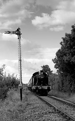 pg__000135278 (Phil Grain) Tags: gcr great central railway rothley leicester north belgrave birstall thurmaston preservedrailway steamtrain steamlocomotive 4566 steam gala blackandwhite bw single line