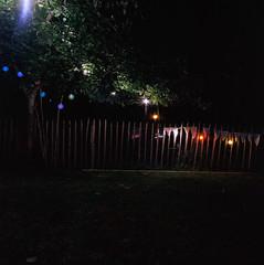 6 (M. SCHULZ) Tags: zenza bronica s2a kodak ektar 100 120 6x6 120mm mittelformat middle medium square format rollfilm film iso analog canon 9000f pehlitz uckermark brandenburg brodowin deutschland germany baum tree zaun fence garten garden sommer summer night nacht hochzeit wedding lampe lamp licht leuchte light