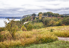 The Highest Point (SteveFrazierPhotography.com) Tags: baxterslakesidegrille blueheronrestaurant lakeoftheozarks lakeozark camdencounty view scene scenery landscape lake evening water autumn fall color foliage trees leaves sky horizon island waves road roadway october2016 clouds reflection vacation horseshoebend parkway pkwy hh villageofthefourseasons outdoor shore shoreline stevefrazierphotography resort hazy rocks roads hills hawaiianisland atlantisisland moody overcast tallgrasses cloudy