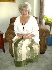 A Visit From Aunt Laurette On Thanksgiving (Laurette Victoria) Tags: skirt blouse woman gray laurette auntlaurette pose